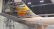 Flugzeuglackierung der heller Lackiererei GmbH in Abu Dhabi