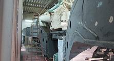 LKW-Lackierungen und Kran-Lackierungen gehören zu den Kernkompetenzen von heller.