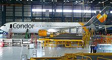 Flugzeuglackierung der heller Lackiererei GmbH im britischen Manchester
