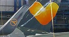 Das Sunny Heart-Logo – lackiert von unseren Spezialisten für Flugzeuglackierungen