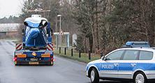 Nach kompletten Farbaufbau auf dem Weg zur Polizei-Hubschrauberstaffel