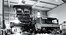 Bei der heller Lackiererei GmbH finden Sie die passende Infrastruktur für Baumaschine und Kran