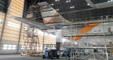 Flugzeuglackierung in Abu Dhabi