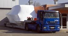 Spezialauflieger für Yachttransporte