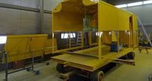 Innen- und Außenlackierung für den Schweißanhänger des schienengängigen LKW