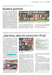 """Am Zeuthener See, 6/2018, S. 5: """"Alte Frau, aber ein schmuckes Ding"""""""